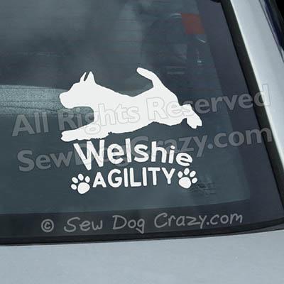 Welshie Agility Window Stickers