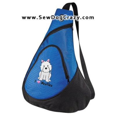 Embroidered West Highland White Terrier Bags