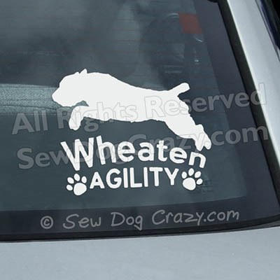 Soft Coated Wheaten Terrier Agility Car Decals