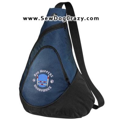 Embroidered Agility Bar Hopper Bag