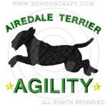 Embroidered Airedale Agility Gifts