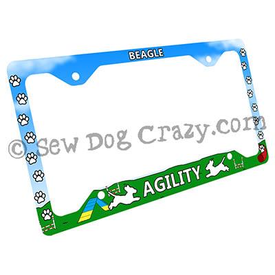 Beagle Agility License Plate Frames