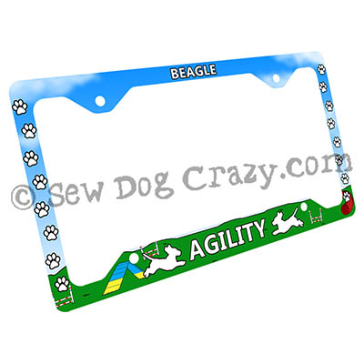 Beagle Agility License Plate Frames
