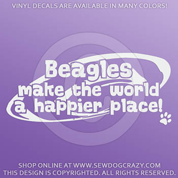Happy Place Beagle Decals