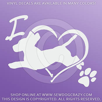 Vinyl Love Beagle Dog Sports Decals