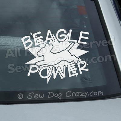 Beagle Power Vinyl Decals