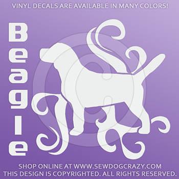 Tribal Beagle Vinyl Stickers