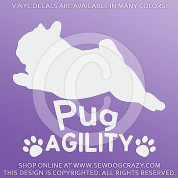 Vinyl Pug Agility Decals