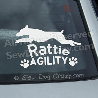 Rat Terrier Agility Car Window Stickers