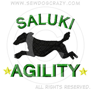 Embroidered Agility Saluki Gifts