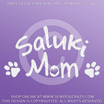 Vinyl Saluki Mom Car Stickers