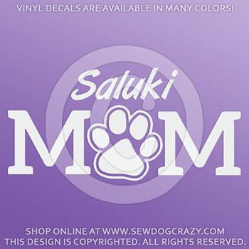 Vinyl Saluki Mom Car Decals