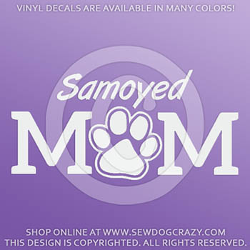 Vinyl Samoyed Mom Car Stickers