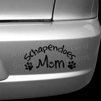Vinyl Schapendoes Mom Bumper Stickers