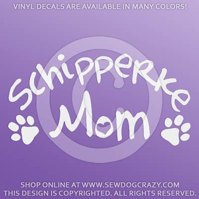 Vinyl Schipperke Mom Car Decals