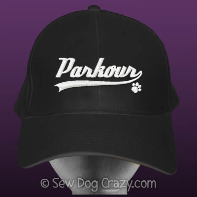 Embroidered Dog Parkour Cap