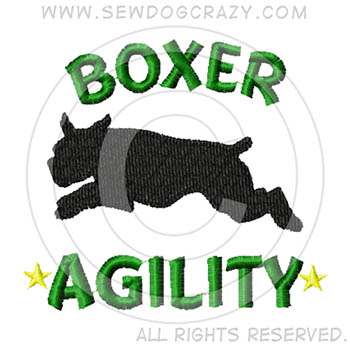Embroidered Boxer Dog Agility Gifts