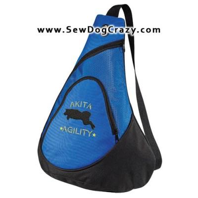 Embroidered Agility Akita Bags