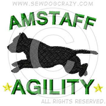 American Staffordshire Terrier Agility Shirts