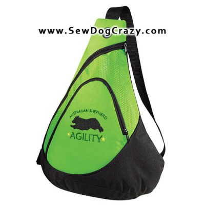 Embroidered Agility Aussie Bag