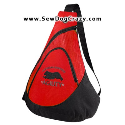 Australian Shepherd Agility Embroidered Bag