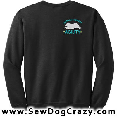 Australian Shepherd Agility Embroidered Sweatshirt