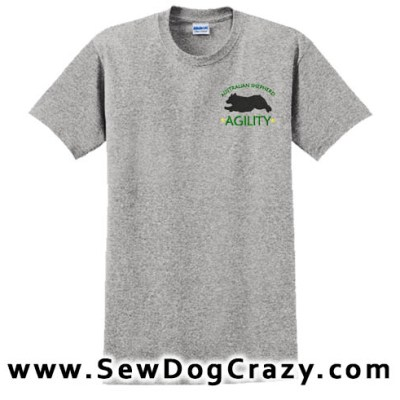 Embroidered Agility Aussie TShirt