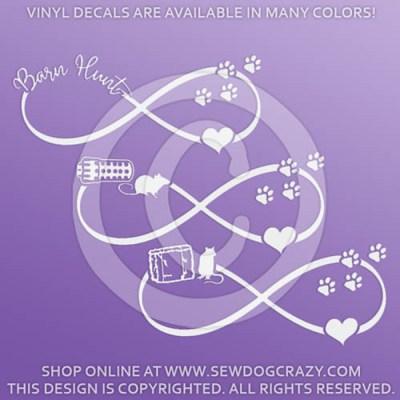 Love Barn Hunt Infinity Vinyl Decals