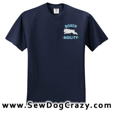 Boxer Dog Agility Tshirt