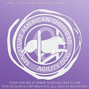Miniature American Shepherd Agility Vinyl Stickers