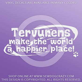 Cute Belgian Tervuren Vinyl Stickers
