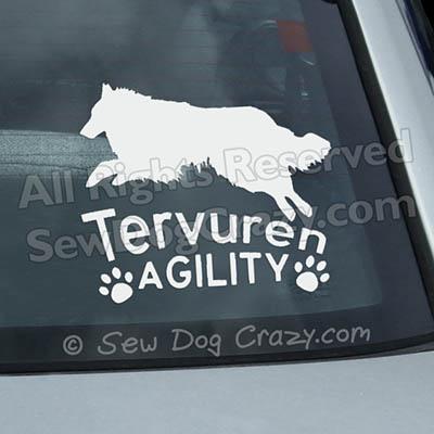 Tervuren Agility Car Decals