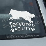 Tervuren Agility Car Decals