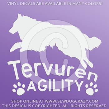 Tervuren Agility Vinyl Stickers