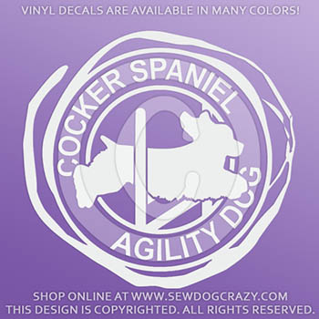 American Cocker Spaniel Agility Vinyl Decals