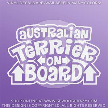 Australian Terrier On Board Vinyl Sticker