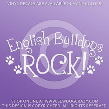 English Bulldogs Rock Car Decal