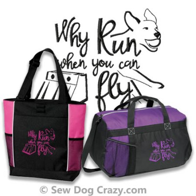 Embroidered Flyball Bags