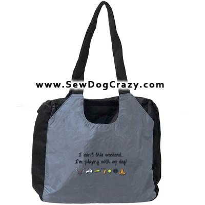 Embroidered Dog Sports Bag