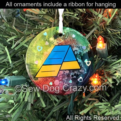 Agility A-Frame Christmas Ornament