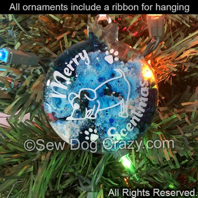 Scent Work Christmas Ornament