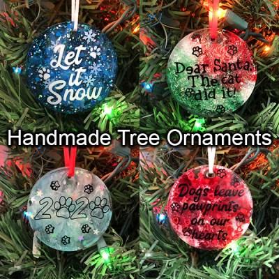 Handmade Dog Christmas Ornaments