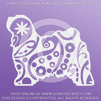 Paisley Tibetan Terrier Vinyl Stickers