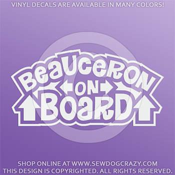 Beauceron On Board Vinyl Decals