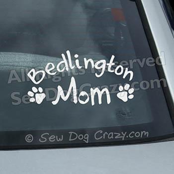 Bedlington Terrier Mom Car Window Sticker