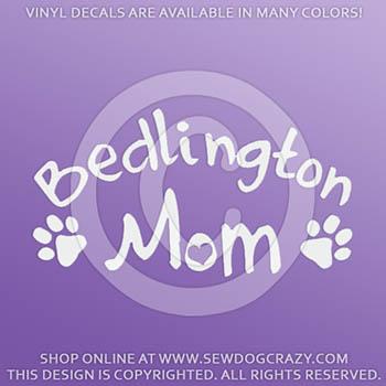 Bedlington Terrier Mom Car Decals