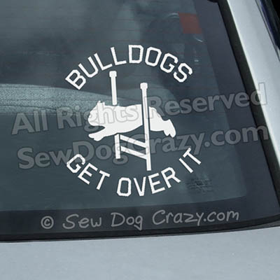 English Bulldog Agility Window Decals
