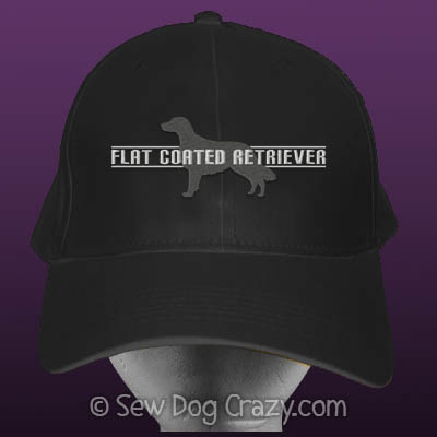 Embroidered Flat Coated Retriever Hats