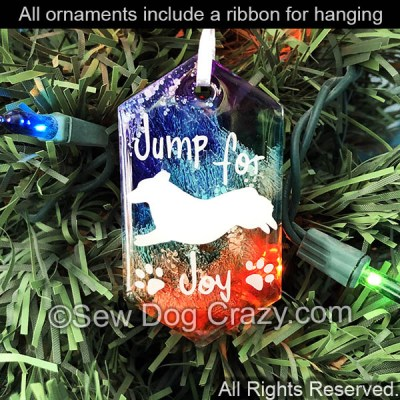 Corgi Jump For Joy Christmas Ornament