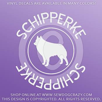 Schipperke Vinyl Decals
